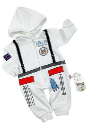 Murat Baby Unisex Bebek Beyaz Uzay Baskılı Tulum