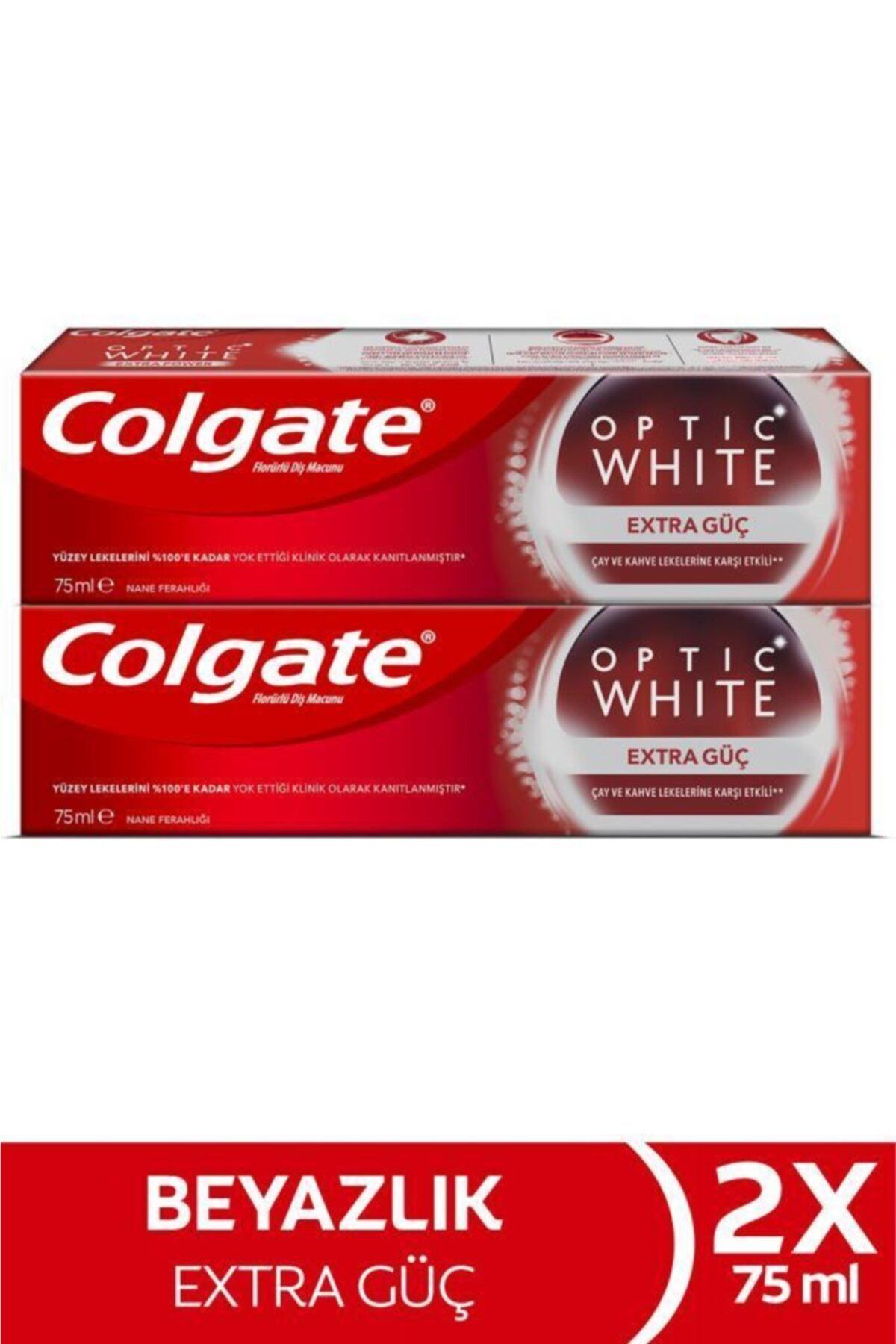 Colgate Optic White Extra Güç Çay Ve Kahve Lekelerine Karşı Etkili Beyazlatıcı Diş Macunu 2 X 75 ml 1