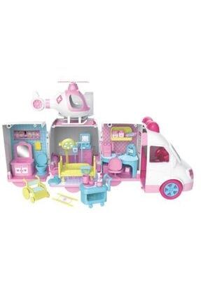 dreamtify Benim Küçük Hastanem Karavan Ve Helikopter Seti Açılabilir Ambulans Barbie Tarzı