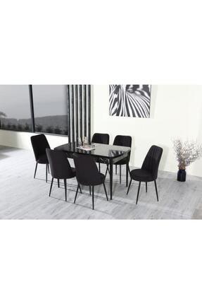 İndirim Spott Inci Serisi 6 Kişilik Masa Takımı-açılır Yemek Masası+6 Sandalye