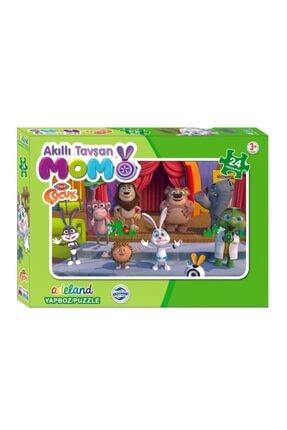 ADELAND Trt Çocuk Akıllı Tavşan Momo Kutulu Puzzle/yapboz 24 Parça