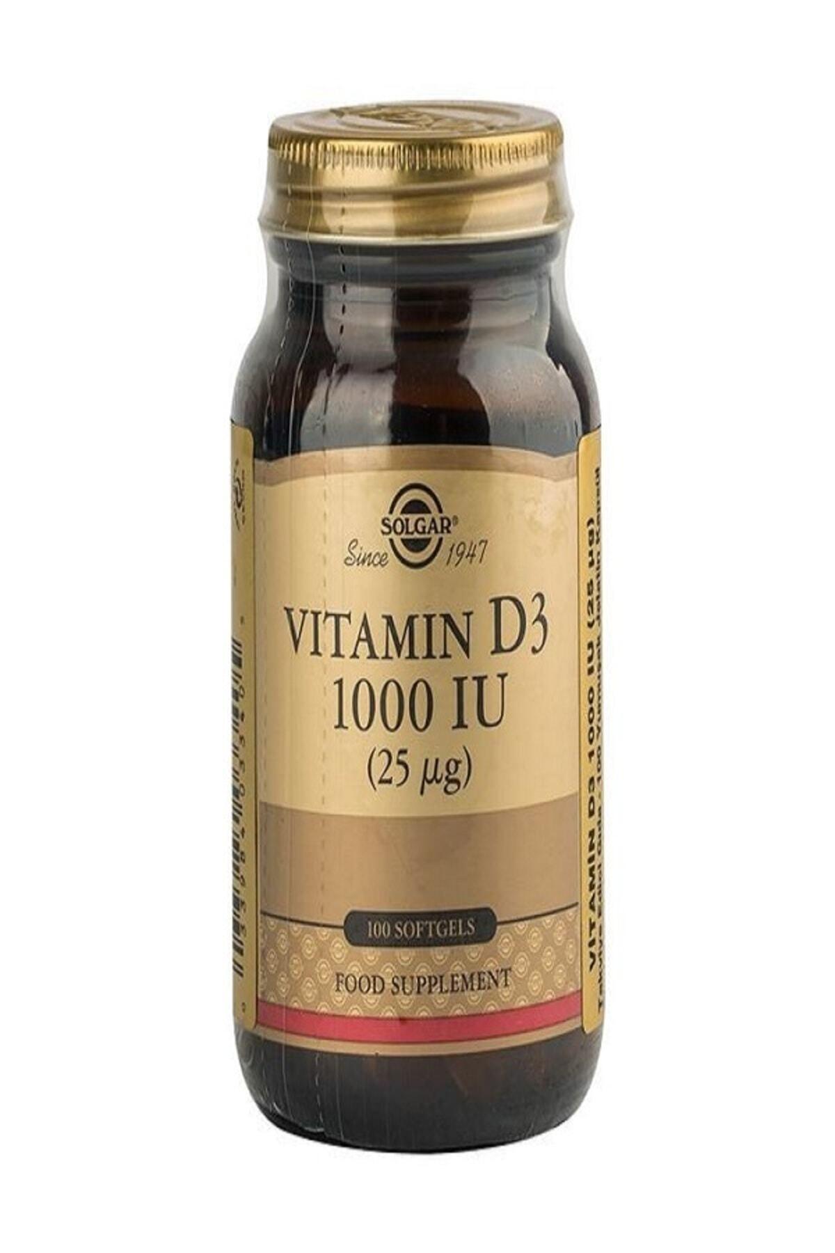Solgar Vitamin D3 1000 Iu 100 Softgel 1