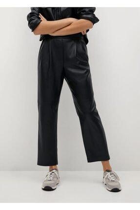 MANGO Woman Pensli Suni Deri Pantolon