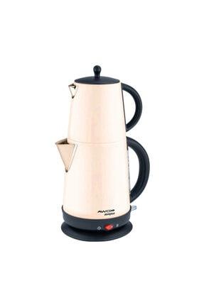 AWOX Demplus Krem Renk Elektrikli Çelik Çay Makinesi
