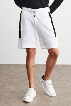GRIMELANGE PISTOL Erkek Beyaz Renk Comfort Fit Spor Şort