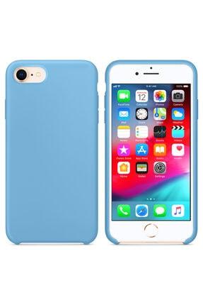Apple Microsonic Iphone 7 Kılıf Liquid Lansman Silikon Kantaron Mavisi