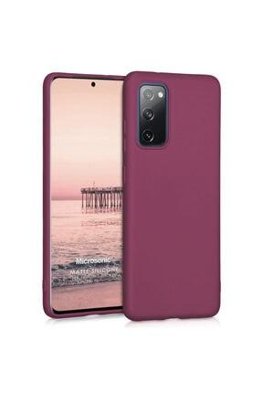 Samsung Microsonic Matte Silicone Galaxy S20 Fe Kılıf Mor
