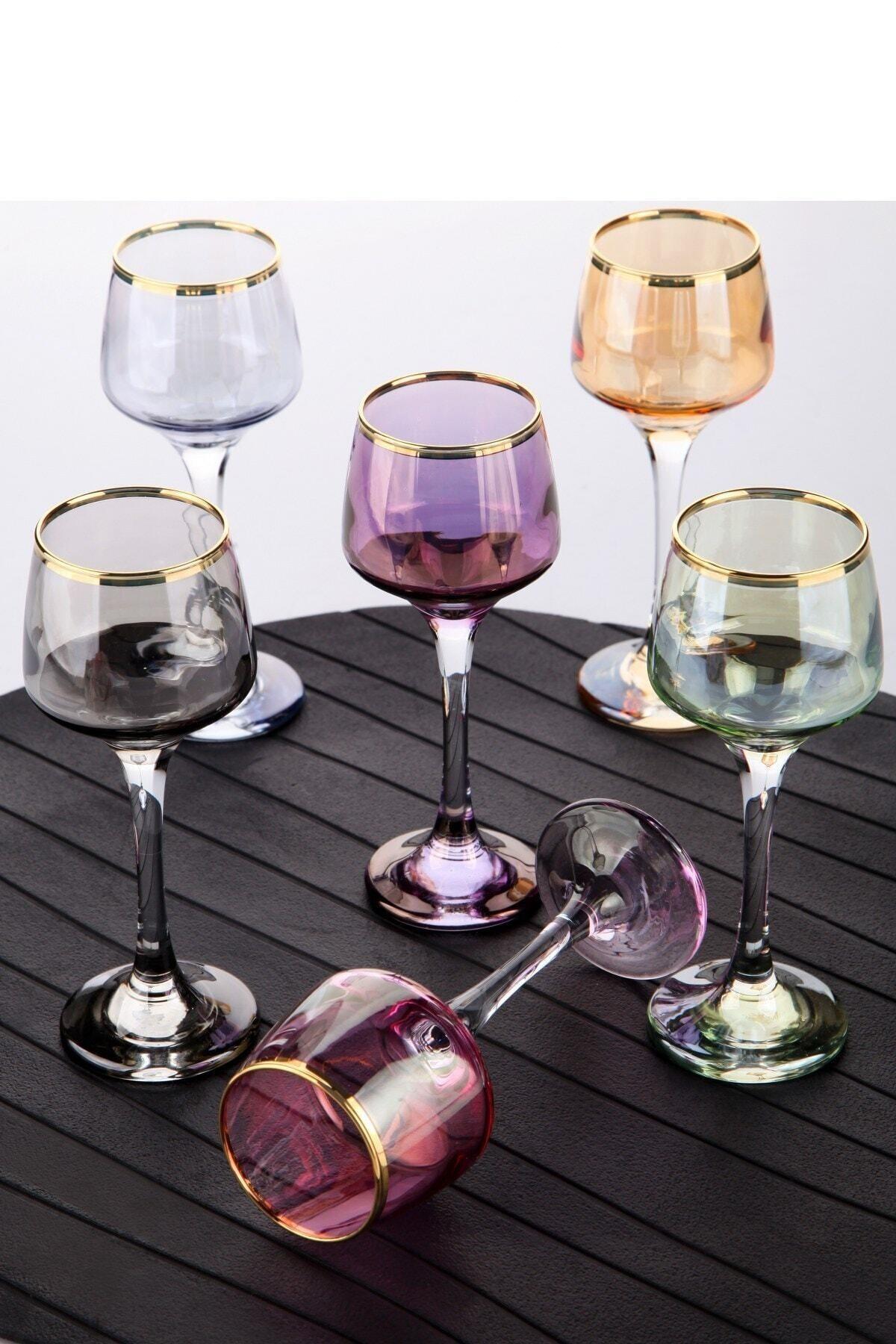Olcay Home Lüx Lüsterli Küçük Ayaklı Kahve Yanı Bardağı 6 Renk 1