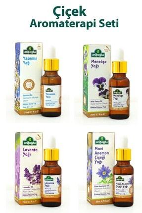 Arifoğlu Çiçek Büyüsü Aromaterapi Seti:mavianemon Yağı,menekşe Yağı,yasemin Yağı,lavanta Yağı