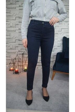 Zena Moda Kadın Lacivert Taş Detaylı Full Likralı Kot Pantolon