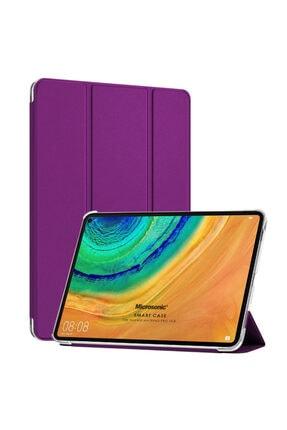 Huawei Microsonic Matepad Pro 10.8'' Kılıf Slim Translucent Back Smart Cover Mor