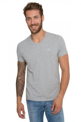 Camp David Erkek Gümüş Rengi T-shirt Chs-1801-3033_smg