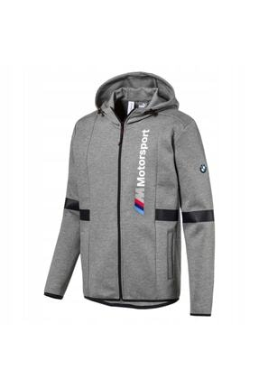 Puma Unisex Gri Bmw Mms Hooded Jacket Spor Ceket 57665203