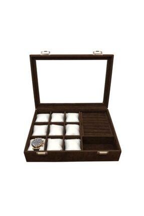 Polo Cross Saat +yüzük+ Kol Düğmesi +gözlük Çok Amaçlı Takı Kutusu Ahşap Kasa Üzeri Deri Kaplama