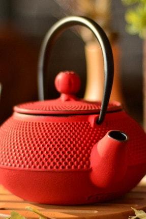 Taşev Linden Sümbül 750 ml Kırmızı Döküm Çaydanlık T2765