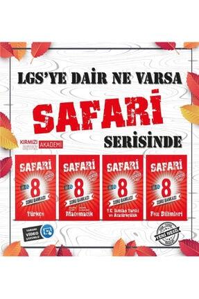 Kırmızı Beyaz Yayınları Kırmızı Beyaz 8.sınıf Safari Lgs Soru Bankası 4^lü Set (matematik + Fen Bilimleri + Türkçe + Inkılap
