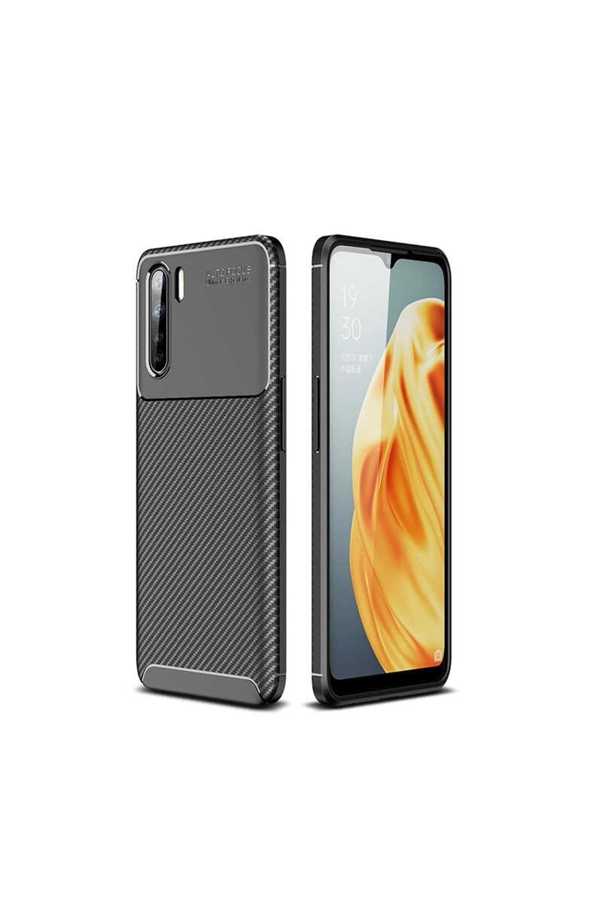 Oppo A91 Kılıf Karbon Tasarım Parmak Izi Yapmaz Dayanıklı Silikon 1