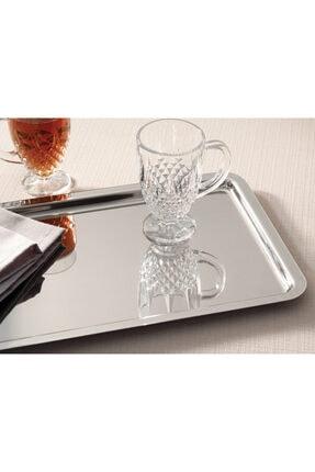 English Home Shiny Metal Tepsi 32x22 Cm Gümüş