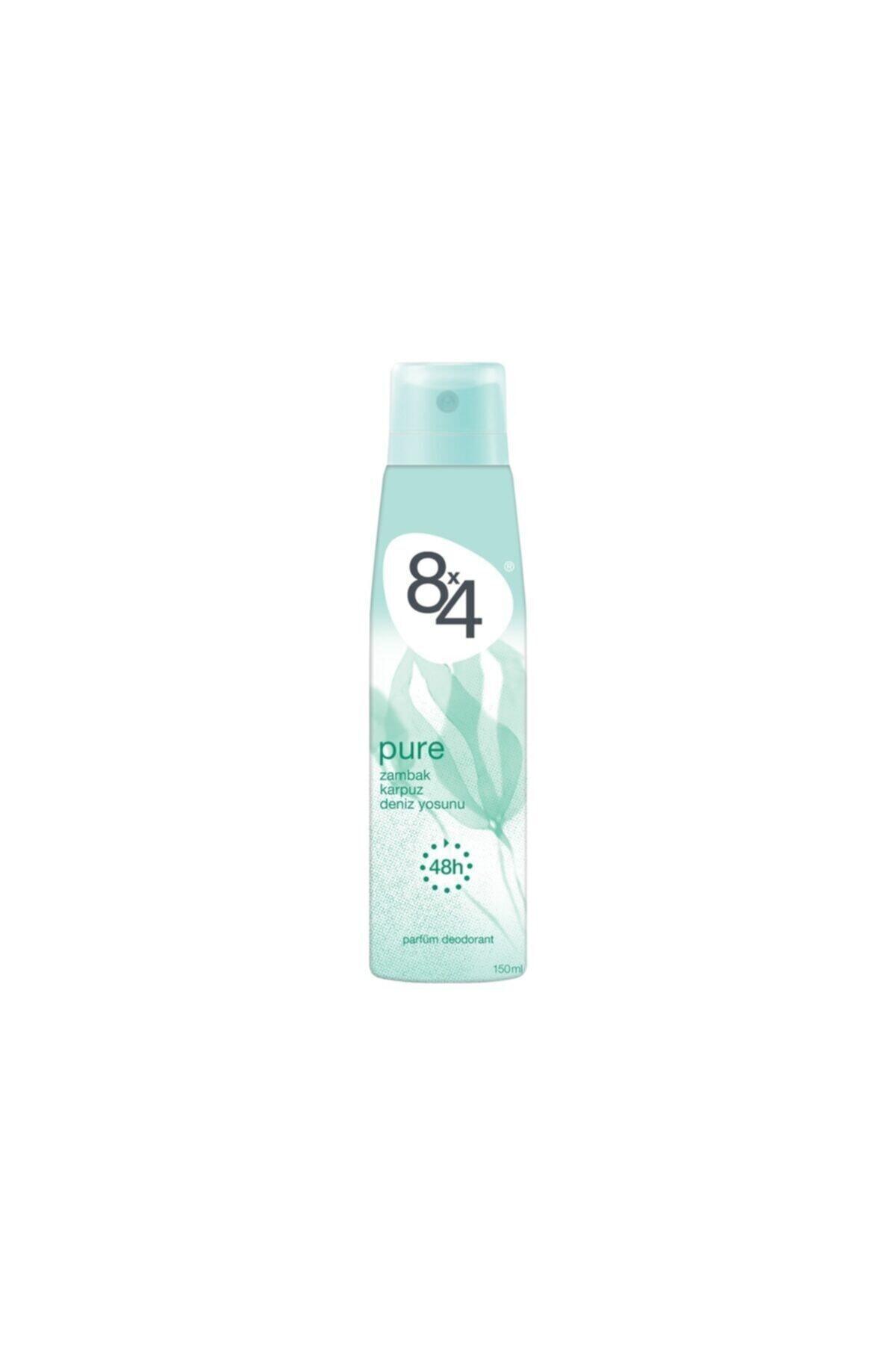 8x4 Pure Sprey Deodorant 150 ml Kadın 1