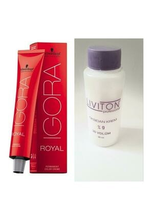 Igora Royal Mix Saç Boyası 0-22 Turuncu Azaltıcı 60 ml + Liviton Mini Oksidan 30 Vol.