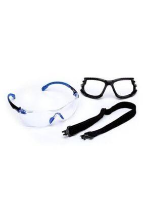3M Solus 1000 S1101sgafkt-eu Mavi Siyah Kenar Seffaf Kit Pc Gozluk
