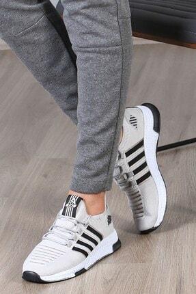 Madmext Erkek Şeritli Gri Sneaker Ms027