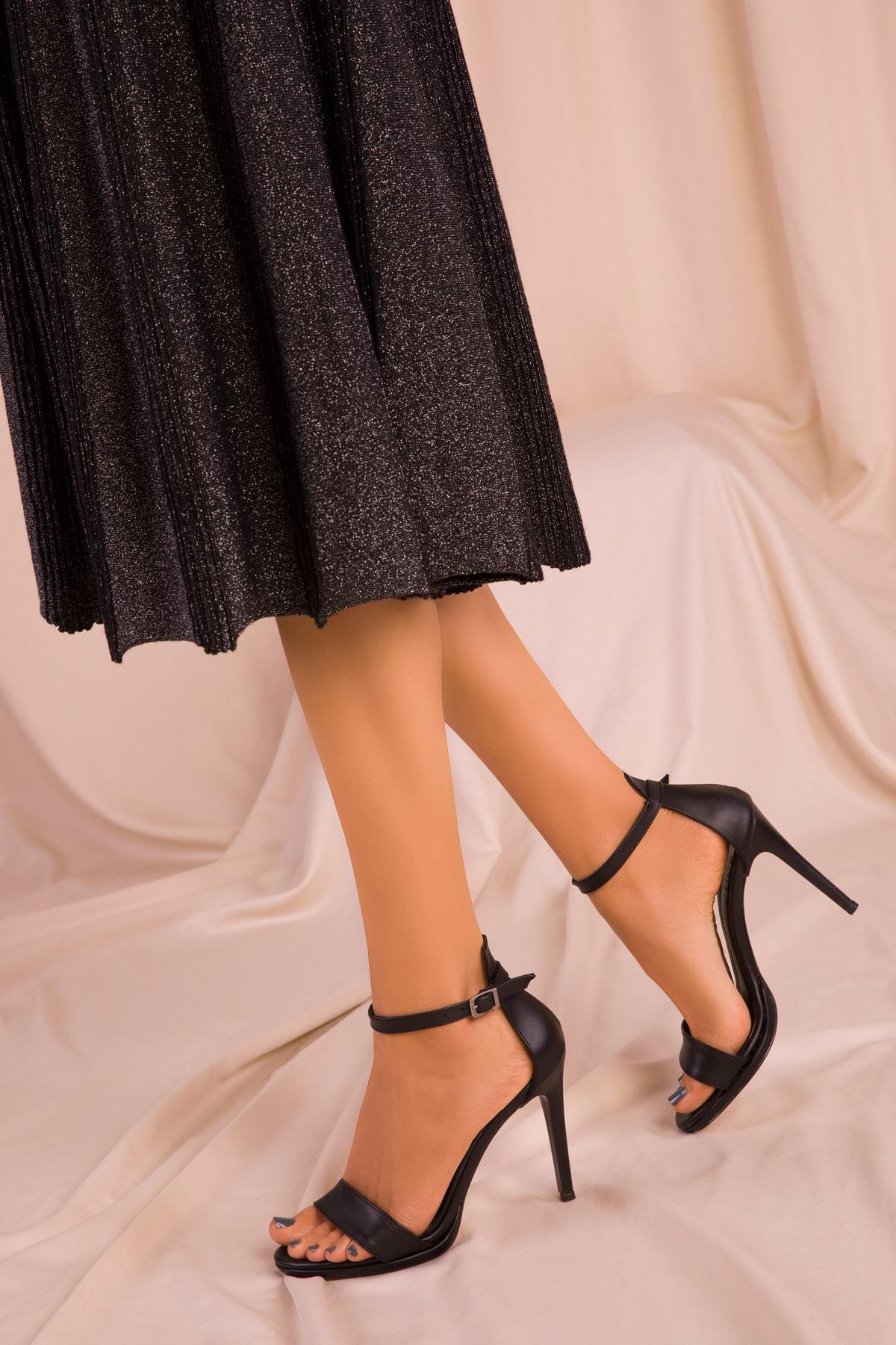SOHO Siyah Kadın Klasik Topuklu Ayakkabı 14530 1