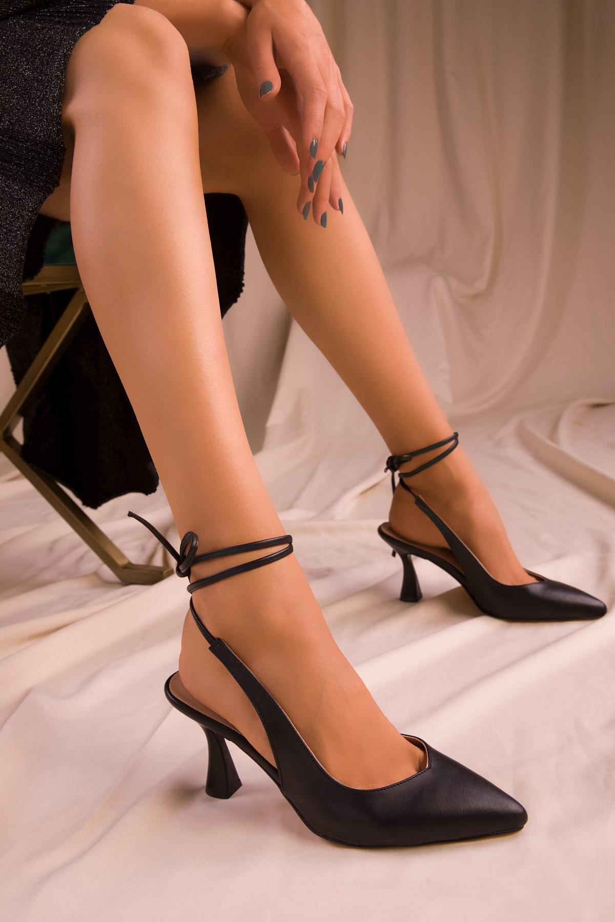 SOHO Siyah Kadın Klasik Topuklu Ayakkabı 15776 2