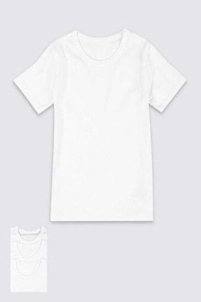 Berrak Erkek Çocuk Beyaz Fanila/6'lı Paket  1502
