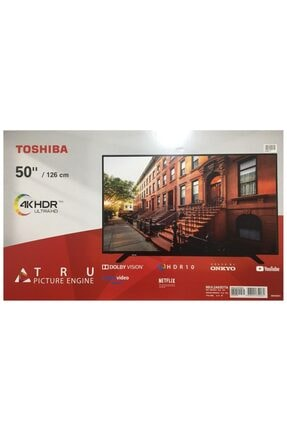 "Toshiba 50UL2A63DTA 50"" / 127 Ekran Uydu Alıcılı 4K Ultra HD Smart LED TV"