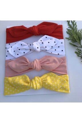 swan butik Kız Çocuk Bebek Bandana Toka Seti 4'lü