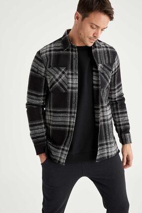DeFacto Regular Fit Uzun Kollu Kareli Gömlek Ceket