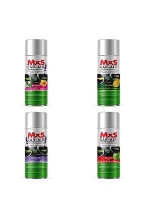 MxS Fresh Koku Bomba Araç Içi Ve Klima Koku Giderici Karma Kokulu 200 ml X4 Adet