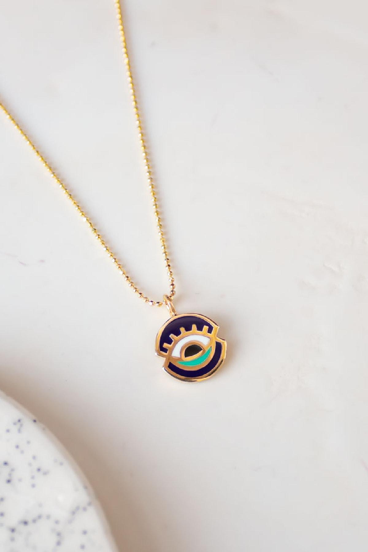 Gui Jewellery Universe Mini Kolye Gümüş Üzeri Altın Kaplama 1