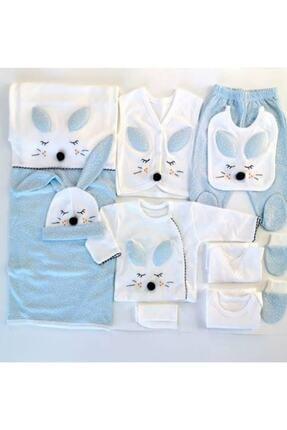 Gaye Bebe Gaye Mavi Tavşanlı 10'lu Yeni Doğan Hastane Çıkışı
