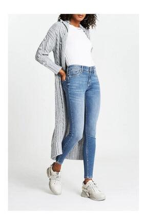 River Island Kadın Mavi Orta Yüksek Bel Şekillendirici Tasarım Jegging Jeans