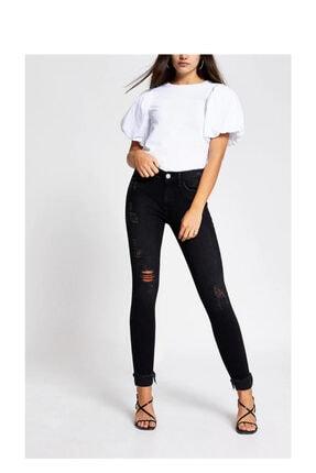 River Island Kadın Siyah Amelie Orta Bel Kot Jean