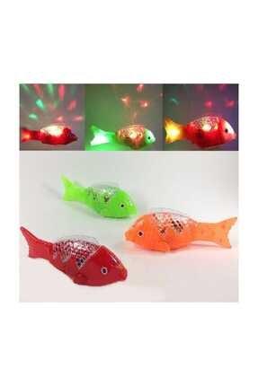 RoseRoi 1 Adet Müzikli Işıklı Yürüyen Balık 23 Cm Pil Ile Çalışan Oyuncak Balık