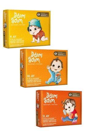 Adım Adım Yayınları Bebek Eğitim Seti 9-10-11. Ay 3'lü Set - Kozme Store