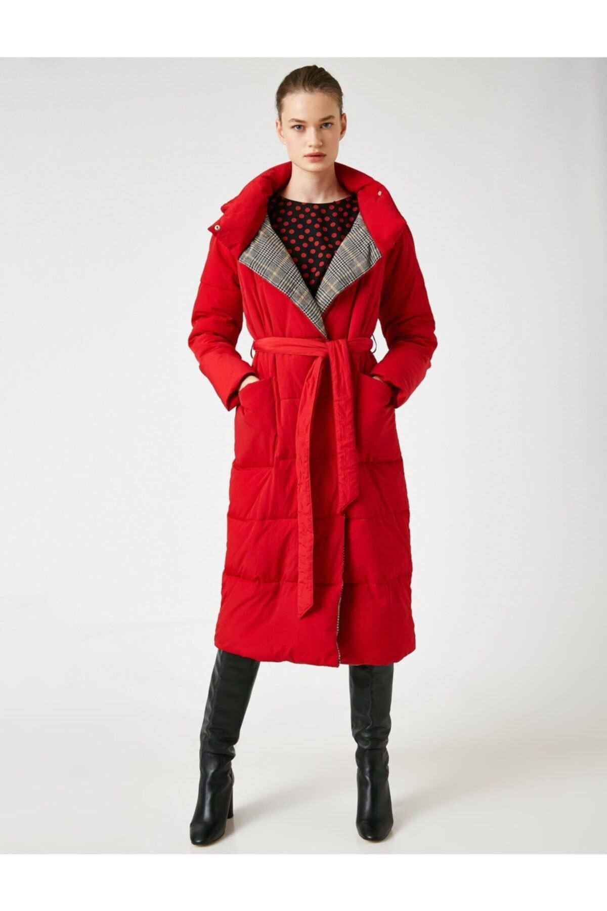 Koton Kadın Kırmızı Kaban 0KAK06397GW 1