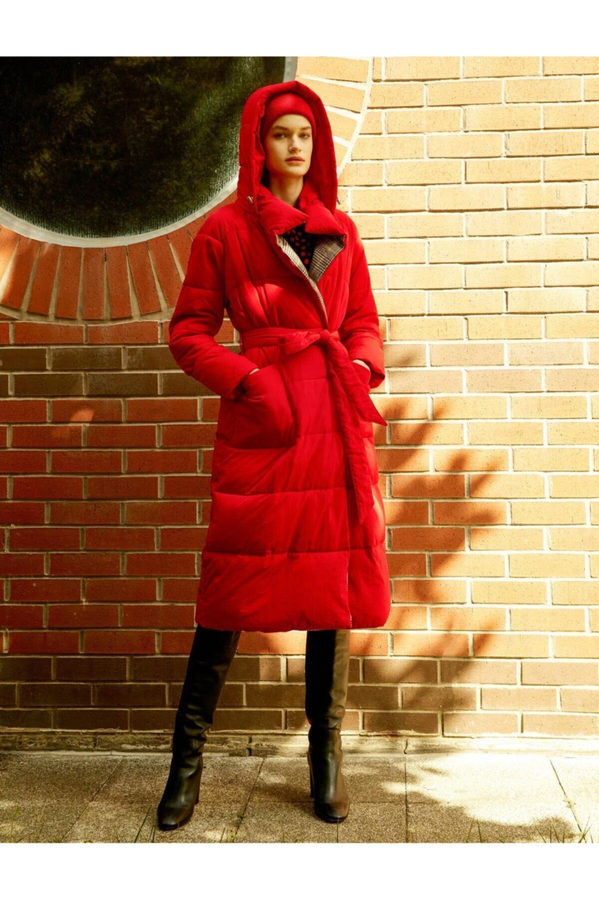 Koton Kadın Kırmızı Kaban 0KAK06397GW 2