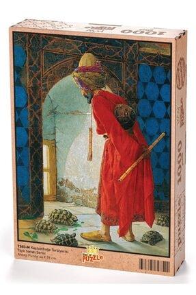 King Of Puzzle Kaplumbağa Terbiyecisi Ahşap Puzzle 1000 Parça