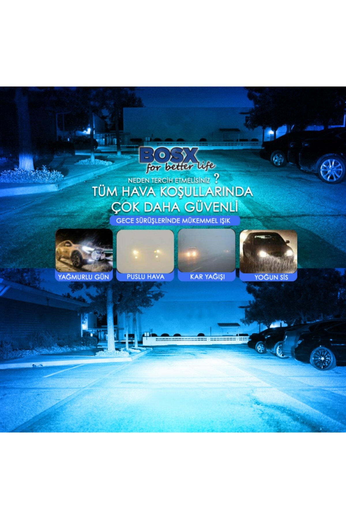 C9 Bosx Iceblue Buz Mavi Led Xenon Far Ampulü 4400lm H27 2