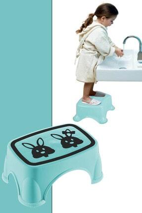 Meleni Home Kaymaz Tabanlı Bebek Çocuk Banyo Taburesi Yükseltme Basamağı Mint