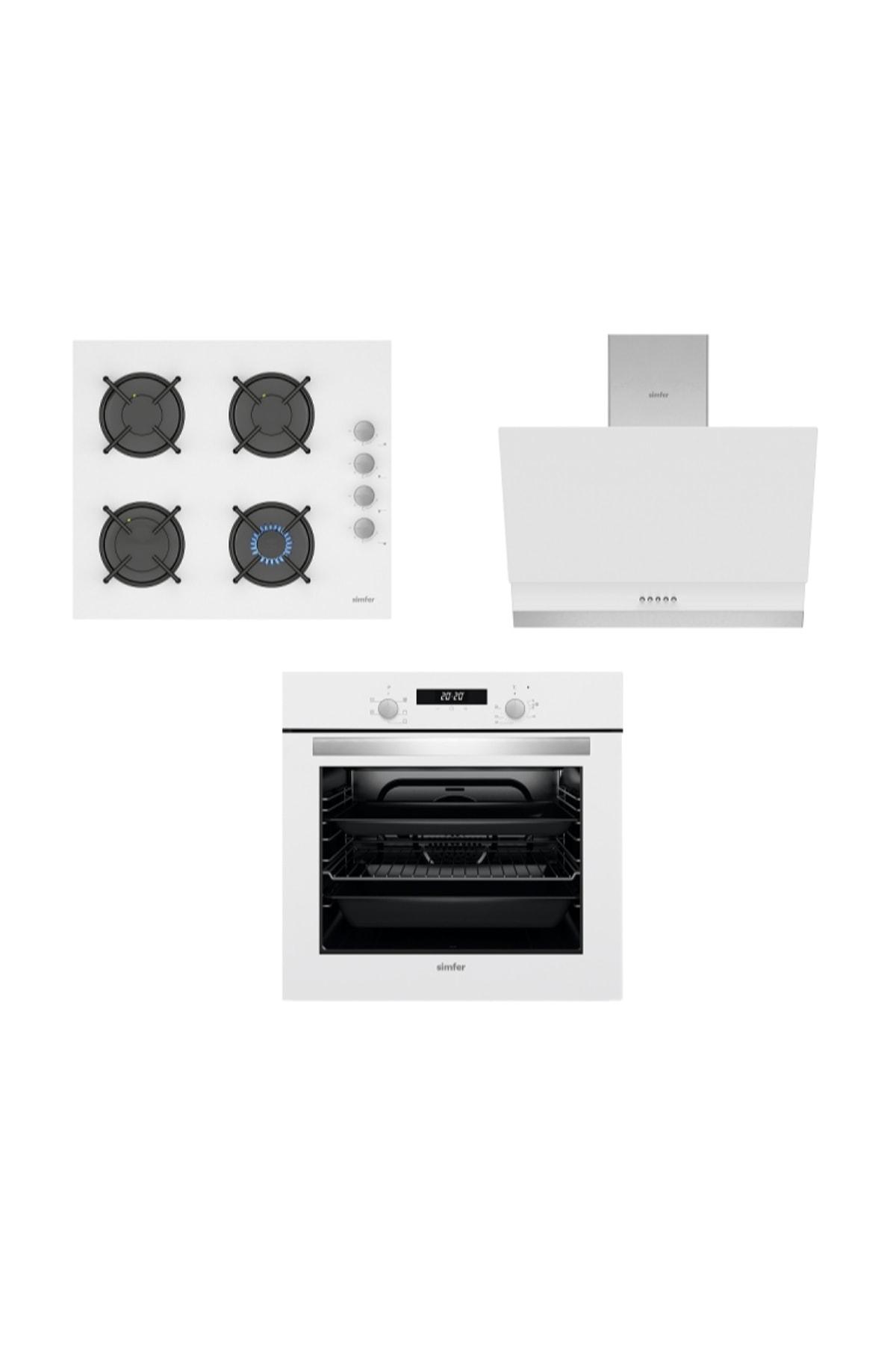 Simfer Beyaz Dijital Ankastre Cam Set (3507 - 9604 - 7340) 1