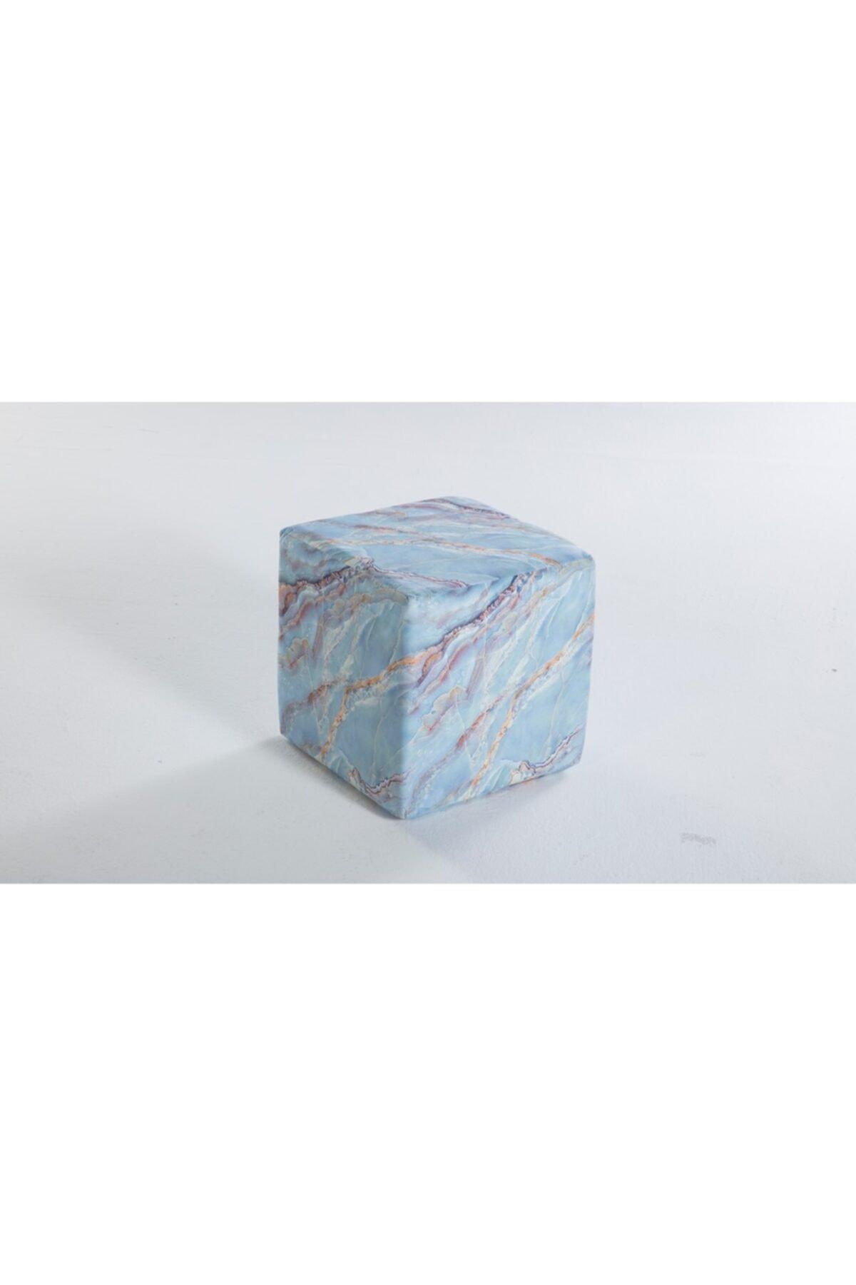İSTİKBAL Joy Puf Mermer Mavi 1