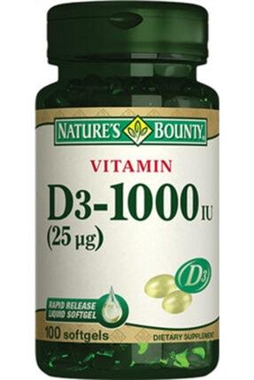 Nature's Bounty Vitamin D3 1000 Iu 100 Softjel