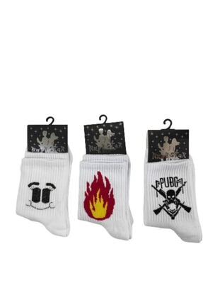Rockstar Kolej Çorap 3 Çift Bir Arada