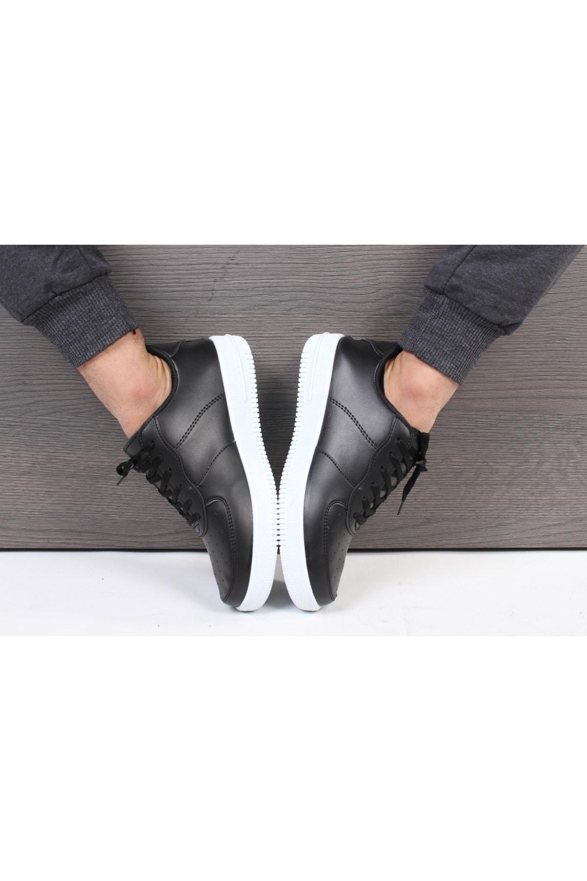 TREND YAŞAR Unisex Siyah Beyaz Sneaker Günlük Spor Ayakkabı 1