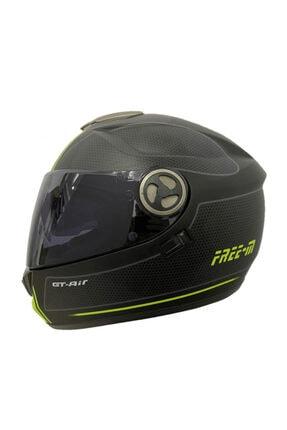 monero Free-m Ff 913 Tam Kapalı Motosiklet Kaskı Neon-mat Siyah